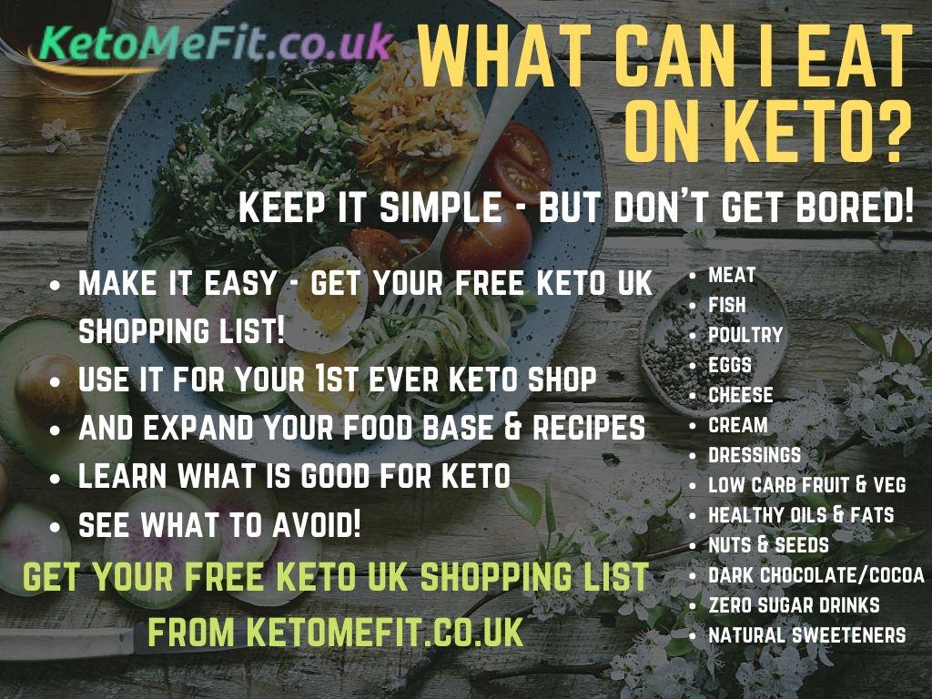 keto UK shopping list