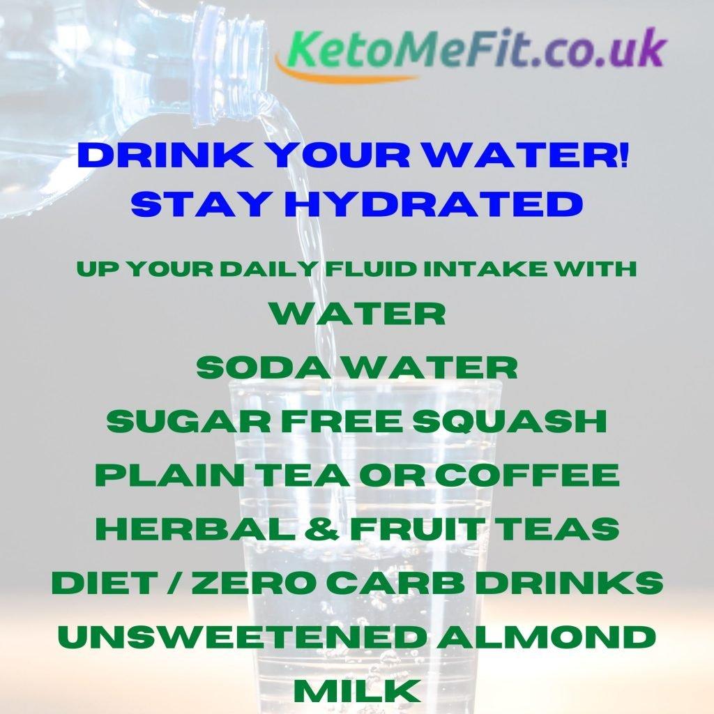ketomefit.co.uk drink water on keto UK